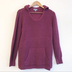 MARKET & SPRUCE 🌸 Hooded Pullover Sweater SZ M